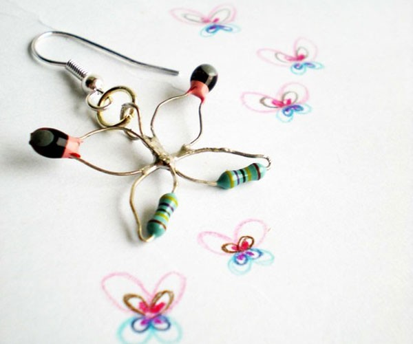 Ohm My God, What Pretty Resistor Earrings You Have On