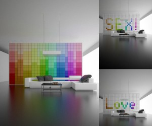 Change It! Pixel Wall Concept: Change Your Walls to Suit Your Many Pixelated Moods