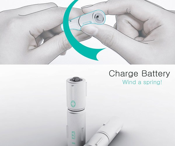 Wind-Up Battery Concept: My Fingers Hurt Just Thinking About It