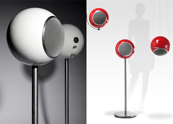elipson planet l speakers don 39 t look much like planets technabob. Black Bedroom Furniture Sets. Home Design Ideas