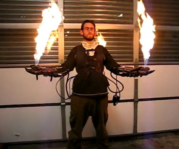 Flamethrower Gloves Ready to Burn Down The House