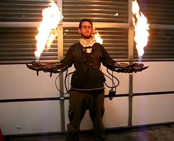 flamethrower gloves