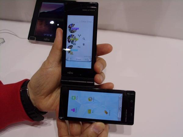 fujitsu dual touchscreen android phone