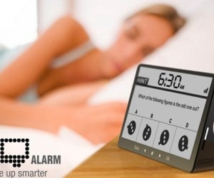 IQ Alarm Clock Concept Makes You Take A Test Before Alarm Turns Off