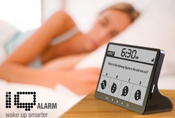 iq alarm clock concept