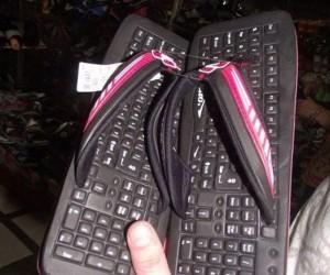 Keyboard Slippers: QWERTYUIOPODIATRIST