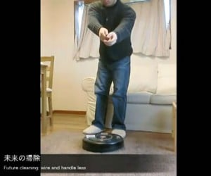 Roomba Vacuum Controlled By Microsoft Kinect