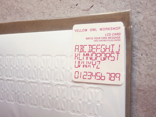 lcd cards by yellow owl workshop