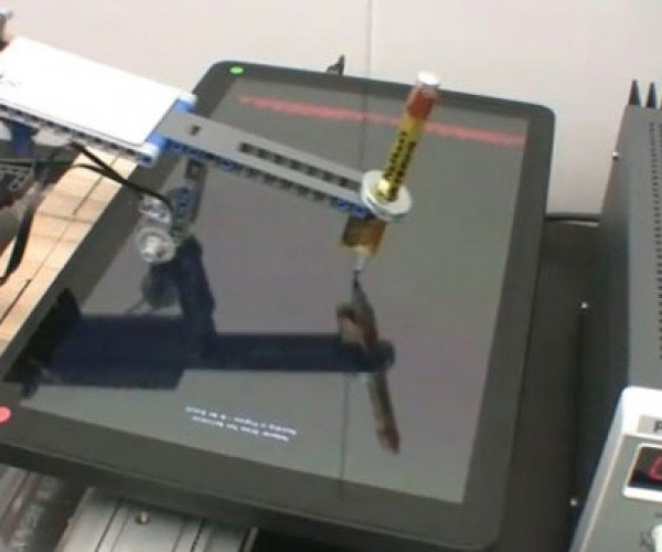 LEGO Robot Tests Kno Textbook Tablet
