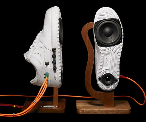 Sneaker Speakers Play Music, Not Tennis
