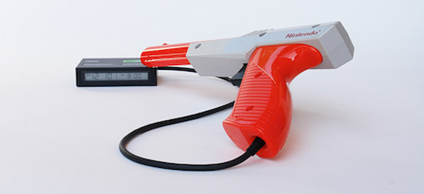nes light gun alarm by roger ibars