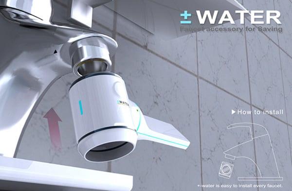 plus minus water meter concept 3