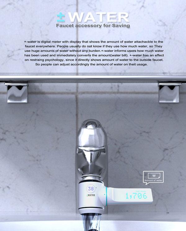 plus minus water meter concept 4