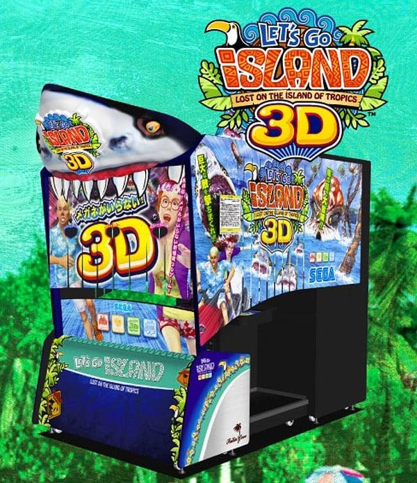sega lets go island 3d cabinet