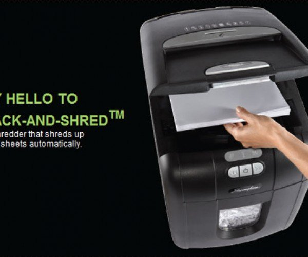 Swingline Stack-and-Shred Shreds 100 Pages of TPS Reports, Staples and All