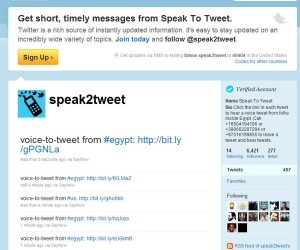 Google Works Around Egyptian Government with speak2tweet