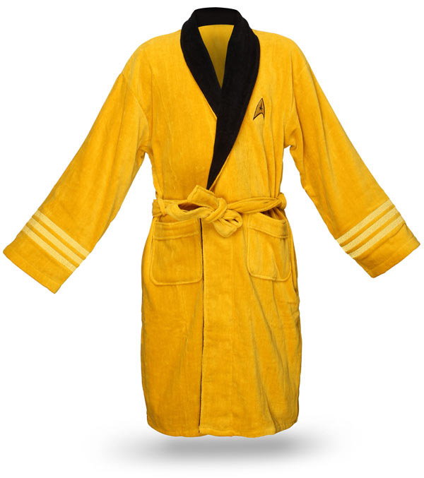 star trek bathrobe kirk yellow