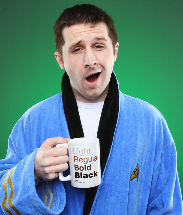 star trek bathrobe spock blue