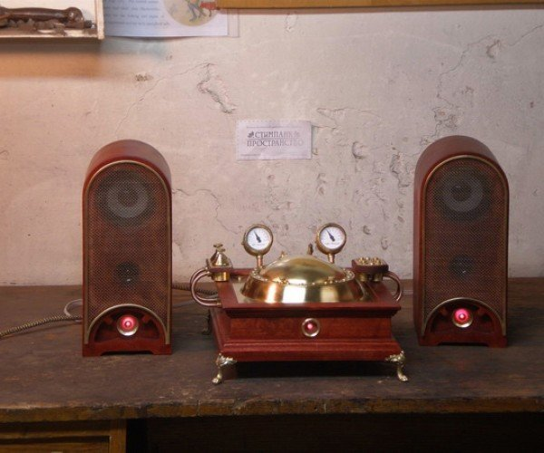 Steampunk CD Player Ready to Play Industrial Tunes