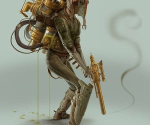 steampunk boba fett by bjorn hurri 300x250
