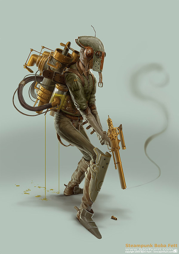 steampunk boba fett by bjorn hurri