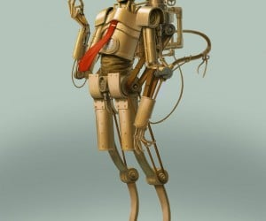 steampunk c3po by bjorn hurri 300x250