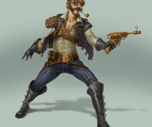 steampunk han solo by bjorn hurri 300x250