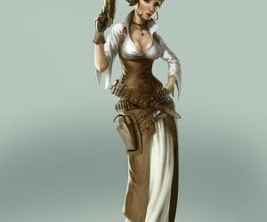 steampunk princess leia by bjorn hurri 300x250