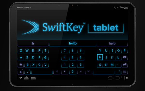 swiftkey tablet android honeycomb keyboard app