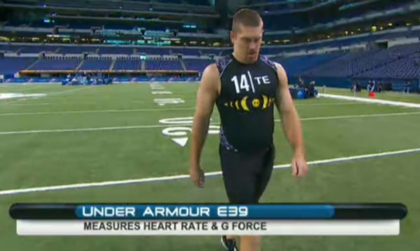 Nfl uses under armour e39 high tech shirts for scouting for Under armour nfl shirts