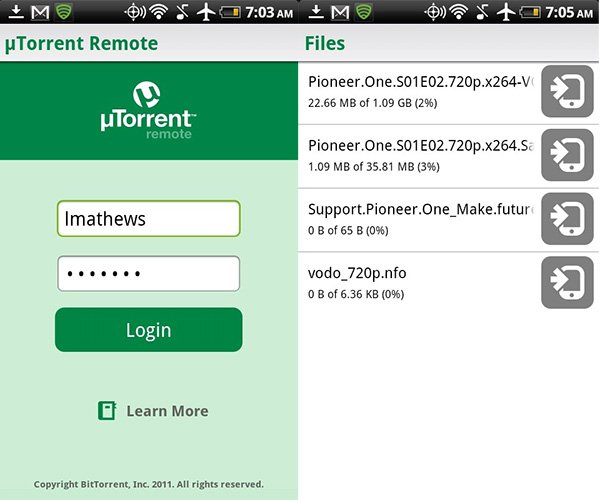 utorrent android app 2