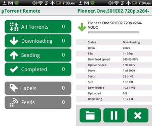 uTorrent Android App Available, Can Transfer Downloads to Mobile Device