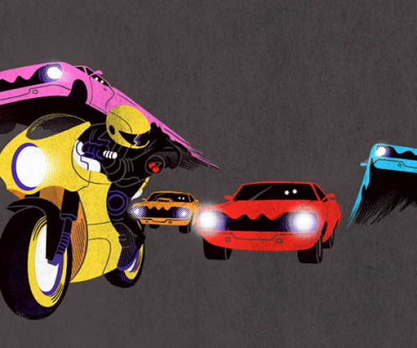 Pac-Man Vapor Chase: Inky, Blinky, Pinky and Cars