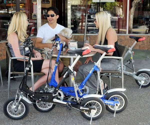 Electric VeloMini Bike: Green and Geeky