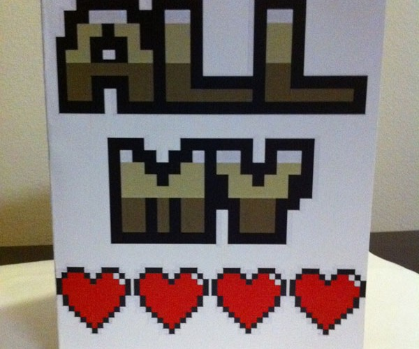 video game themed valentine cards by PaperRockScisorz 11