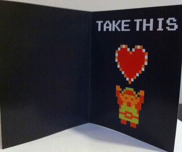 video game themed valentine cards by PaperRockScisorz 3