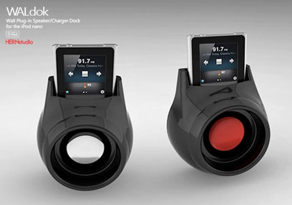 waldok ipod nano dock black