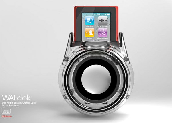 waldok ipod nano dock clear