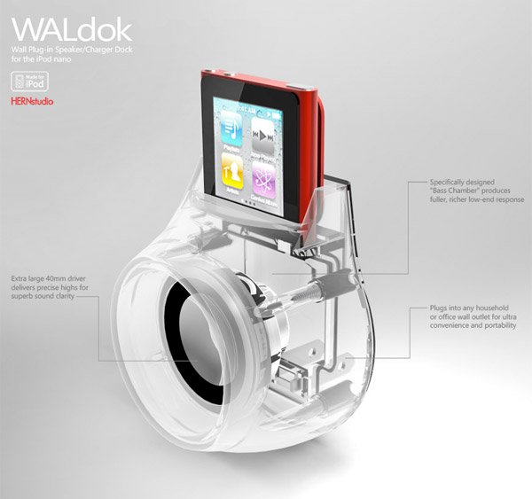 waldok ipod nano dock detail 2