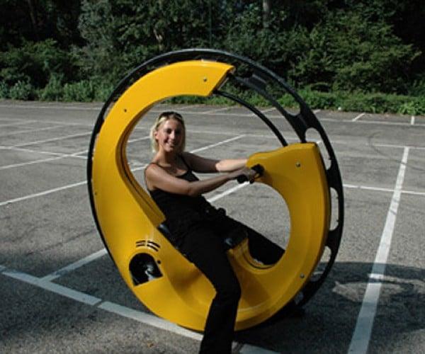 WheelSurf Monocycle: Drive Inside the Wheel