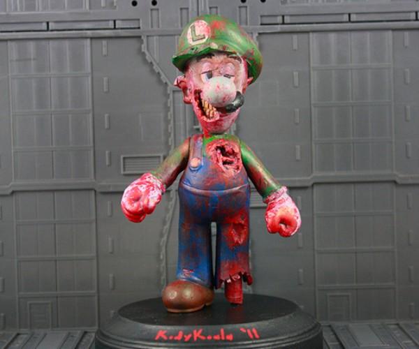 Luigi4Dead: Zombie Luigi Statue