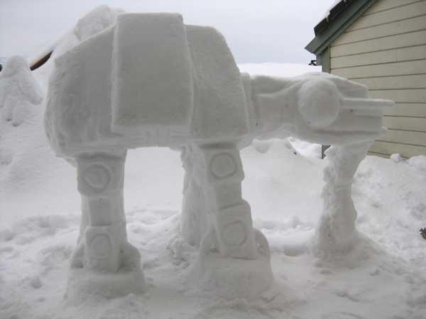 at at imperial walker snow sculpture fun mexican viking