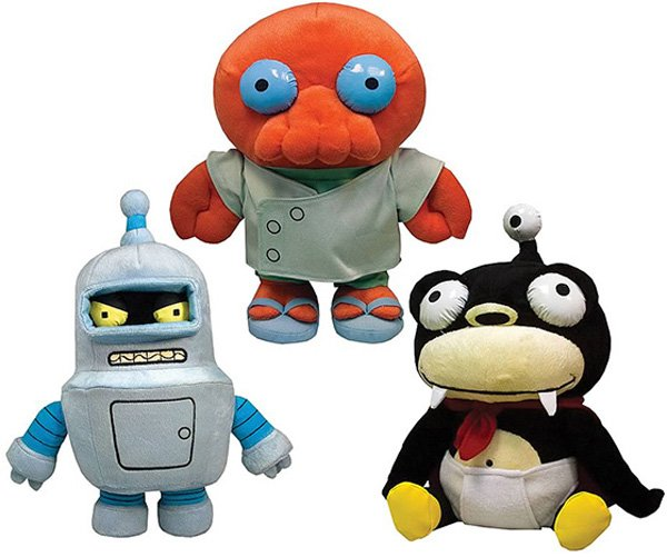 futurama plush toys zoidberg bender nibbler