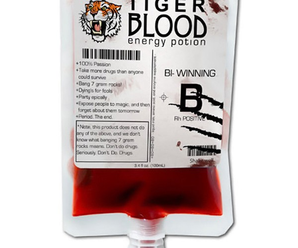 Tiger Blood Energy Drink: Now You Be Like Charlie Sheen (Winning)