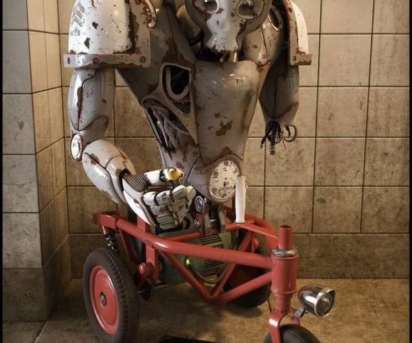 Obsolete: Homeless 'Bot Begs For Energy