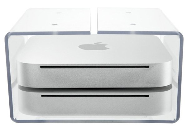 newertech nushelf mac mini time capsule shelf mount acrylic
