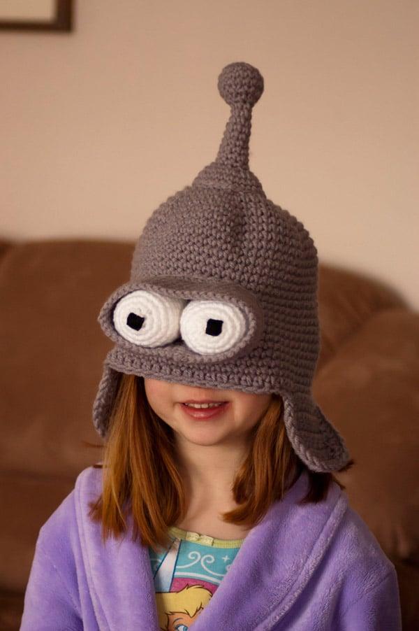 bender futurama toque knit crochet fun