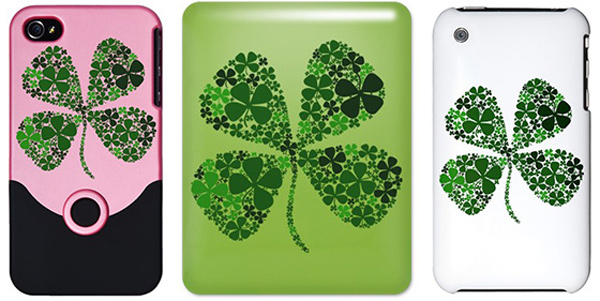ipad iphone clover lucky case