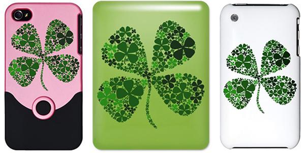 ipad iphone clover lucky case