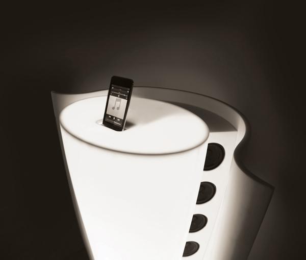 horn dock shi-hyung jeon ipod podium hi-macs design
